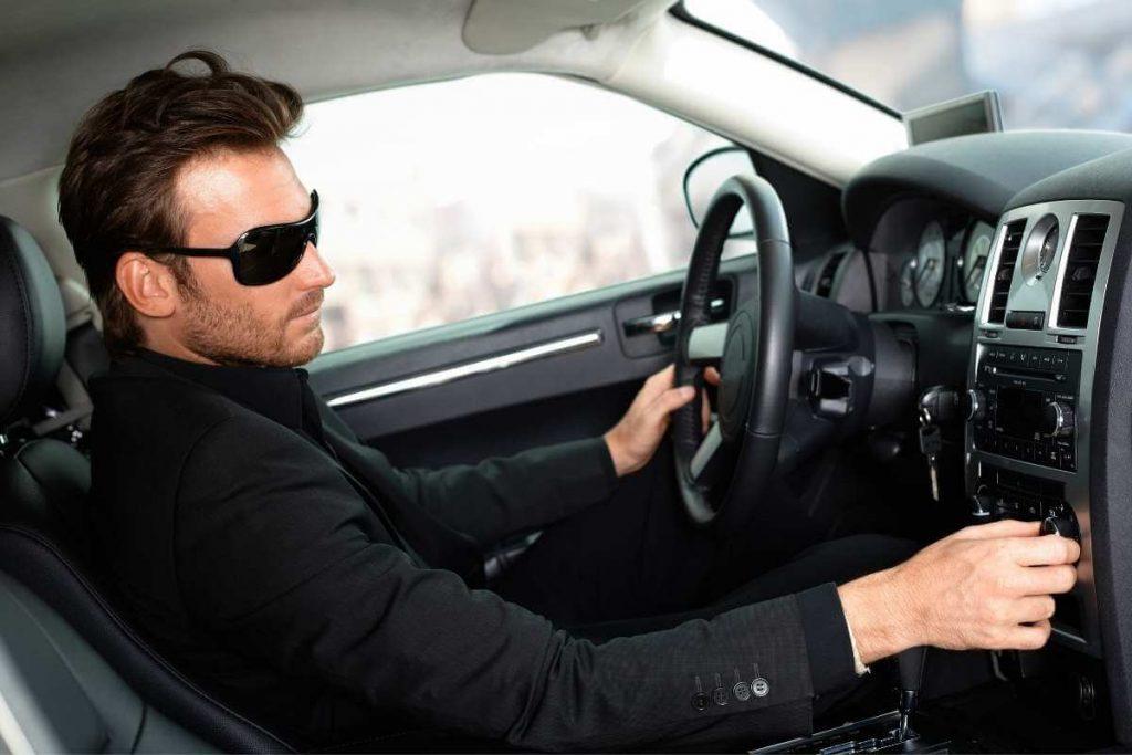 Uber black driver roll royce